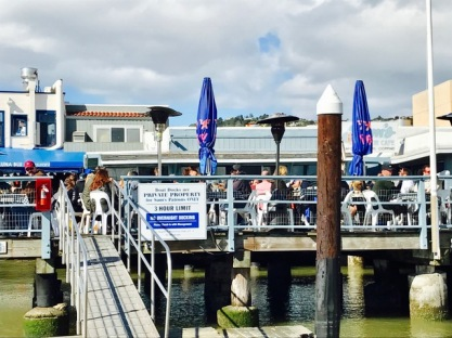 Sam's VIPs arrive via boat