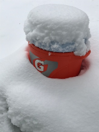 Keep your storage container packed in snow
